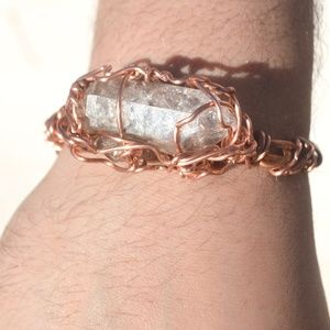 Herkimer Diamond Quartz Crystal Unisex Bracelet